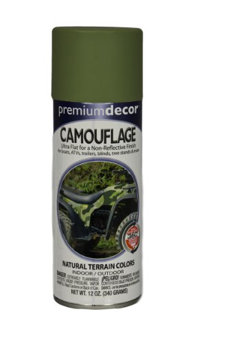 General Paint & Manufacturing PDS-182 Premium Decor Camouflage Enamel Spray Paint with 360-Degree Spray Tip, Military Green, 6-Pack (Military Green Spray Paint compare prices)