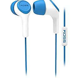 Koss In Ear Headphone With Mic-Blue