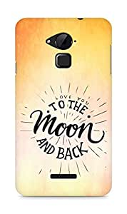 AMEZ love you to the moon and back Back Cover For Coolpad Note 3
