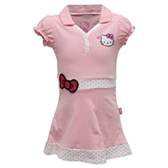 Buy Hello Kitty Girls` Princess Sleeve V Neck Tennis Dress Pink by Hello Kitty