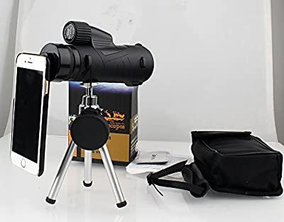 Monocular Telescope,Eyeskey 12x50 Waterproof Monocular Spotting Scope with Hand Strap /Tripod/Adapter,for Bird Watching Hunting Camping Travelling by CREATESTAR