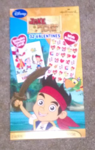 Disney Jake Never Land Pirates 32 Valentine Cards w/ Stickers