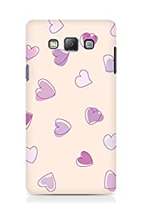 Amez designer printed 3d premium high quality back case cover for Samsung Galaxy A7 (Cute Heart Pattern)