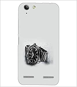 PrintDhaba Watch D-2021 Back Case Cover for LENOVO A6020a46 (Multi-Coloured)