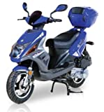 BMS Tuscan BLUE 49cc Gas Single Cylinder 4 Stroke Automatic Moped Scooter