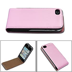 High Quality Flip Leather Case Cover for Apple iPhone 4 4G 4S AT&amp;T and Verizon Pink