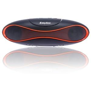 EasyAcc® 2nd Gen Olive Tragbarer Bluetooth Lautsprecher Mini Speaker Wireless bluetooth boxen,Unterstützt micro SD Karten & USB Sticks FM Radio Funktion,bluetooth freisprecheinrichtung, Farbe: Orange