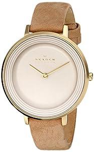 Skagen Women's SKW2215 Ditte Quartz 2 Hand Stainless Steel Light Brown Watch from Skagen