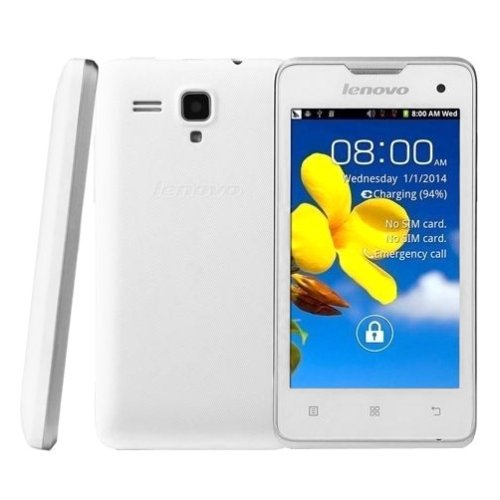 Lenovo A396 Unlocked Smartphone 4.0 Inch SC7730 Quad Core 1.2GHz,Android OS 2.3 256MB RAM + 512MB ROM WCDMA & GSM (White) (Lenovo A396 Quad Core compare prices)