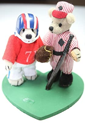 "World of Miniature Bears 2.75"" Cashmere Bears Chicago's Bears #1040 Collectible Miniature Bears Made by Hand"