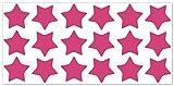 wandfabrik - Fahrradaufkleber - 18 tolle Sterne in pink