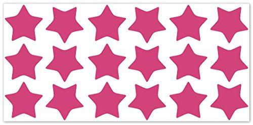 wandfabrik fahrradaufkleber 18 tolle sterne in pink. Black Bedroom Furniture Sets. Home Design Ideas