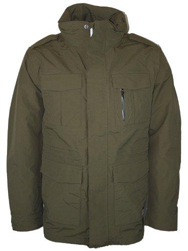 New Mens Green Jack & Jones Cool Cargo Waterproof Hooded Jacket Coat Size XXL