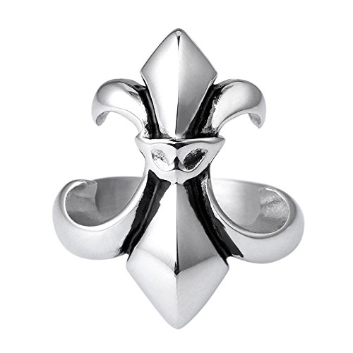 Vintage fine titanio anello in acciaio