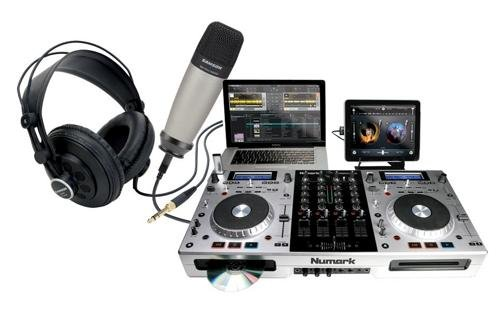 Numark Mixdeck Quad With Mic And Headphones