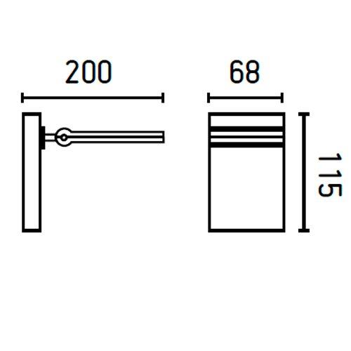 Faro 70139 - TORAN-1 LED Lampe applique gris foncé