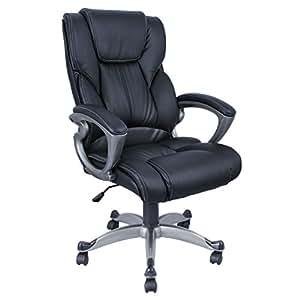 Pu Leather High Back Office Chair Executive Task Ergonomic Comput