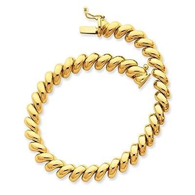 14K Gold San Marco Bracelet 7 Inches