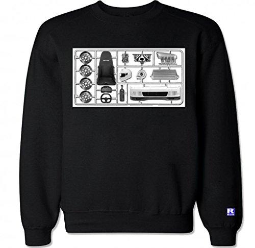 FTD Apparel Men's DIY Racing Kit Crew Neck Sweater - XXL Black (Turbo Kits 350z compare prices)