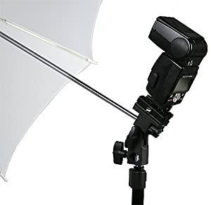 Onwon Flash Bracket Swivel Umbrella Holder Studio Tilting Bracket for Photography Off Camera Bracket B Style
