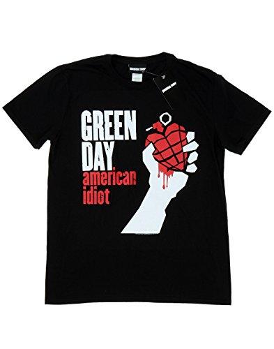 Green Day Bambini e ragazzi American Idiot Maglietta 14-15 Years Nero