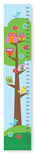 The Kids Room by Stupell Whimsical Owls and Birds in a Tree Growth Chart