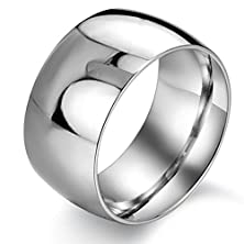 buy Valyria 11Mm Stainless Steel Wedding Band Ring High Polished Classy Domed Ring Silver 9