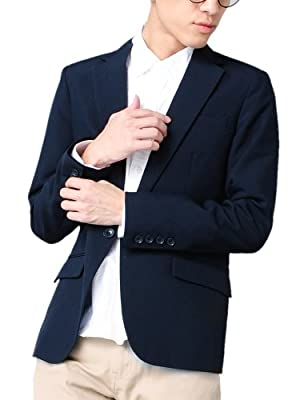 テーラードジャケット メンズ 長袖 7分袖 スーツ生地 1B ブレザー 606207