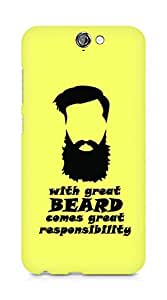 Amez designer printed 3d premium high quality back case cover for HTC One A9 (With Great Beard)