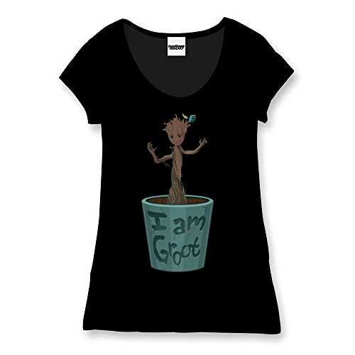 Guardians Of The Galaxy I Am Groot Maglia donna nero XL