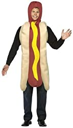 Adult Hot Dog Fancy Dress Costume Lightweight Novelty Funny Food Party Outfit from Rasta Imposta