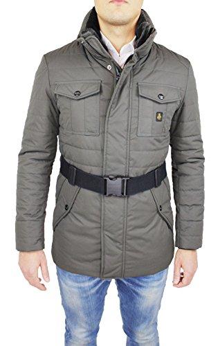 Giubbotto piumino uomo Refrigiwear art G64600 beige sabbia giaccone lungo invernale Man's Jacket (L)