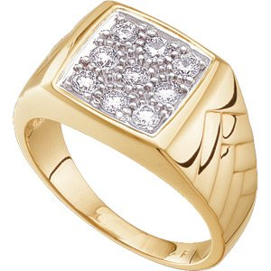 14K Yellow Gold 5/8 ct tw Gents Diamond Ring: 5/8 CT TW Size: 11