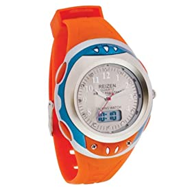Reizen Digital Analog Water Resistant Talking Watch Orange