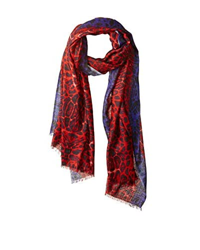 Bindya NY Women's The Cat Leopard Scarf, Red