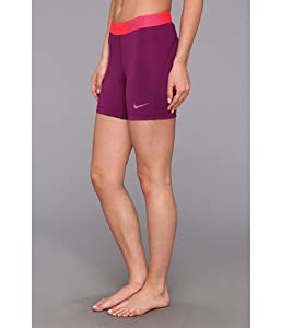"Nike Womens 5"" Pro Core Compression Shorts #589365-519 (Grape/Violet Shade)"