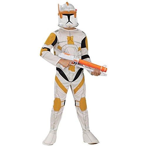 [GSG Clone Trooper Commander Cody Costume WarsChild Boys Halloween] (Clone Trooper Commander Cody Child Costume)