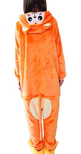 Tm Unisex Sleepwear Thick Monkey Costume Cosplay Animal Pajamas Onesies S