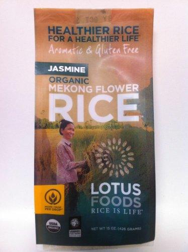 Lotus Foods Organic Mekong Flower Rice, Jasmine, 15-Ounce (Pack of 6)