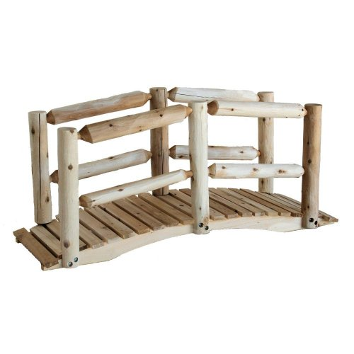 Lakeland Mills 5-Foot Cedar Log Bridge, Natural