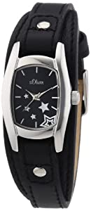 s.Oliver Damen-Armbanduhr Analog Quarz Leder SO-2861-LQ