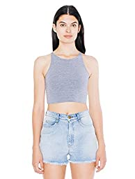 American Apparel Women\'s Cotton Spandex Sleeveless Crop Top Size XS Athletic