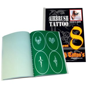 Unique Airbrush Stencils 100 Temporary Tattoos Designs Design Book 8 Profession Popular Hot Stylish Style Design Pattern front-728673