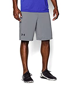 Under Armour Men's Raid Shorts, Large, Steel/Black