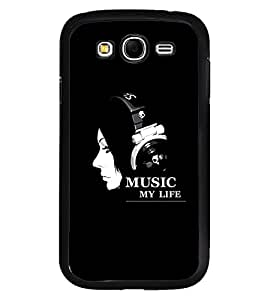 Fuson Premium Music My Life Metal Printed with Hard Plastic Back Case Cover for Samsung Galaxy Grand Neo Plus GTi9060i