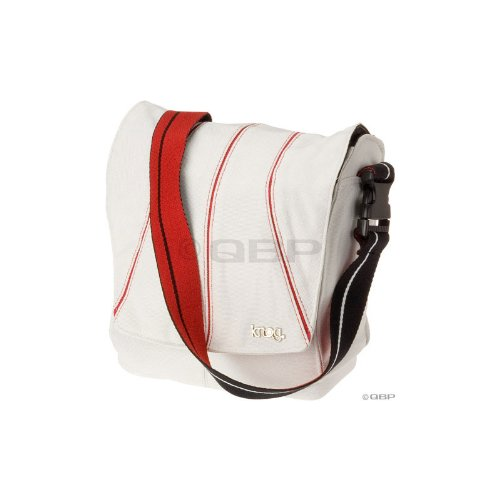 Knog Leading Dog Universal Bicycle Handlebar Bag with Hardware (Red/White)