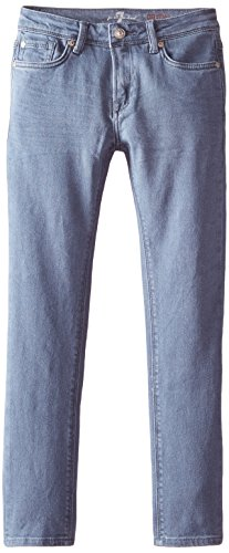 7 for All Mankind Little Boys' Paxtyn Skinniest Tapered Stretch Denim Jean, Triple Blue, 4