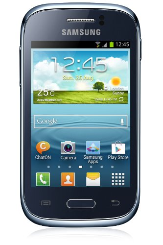 Samsung Galaxy Young S6310l Unlocked GSM Cell Phone Deep Blue Android Quadband