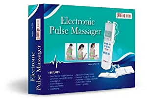 Santamedical Tens Handheld Electronic Pulse Massager Unit Muscle Stimulator for Electrotherapy Pain Management, 12 Ounce