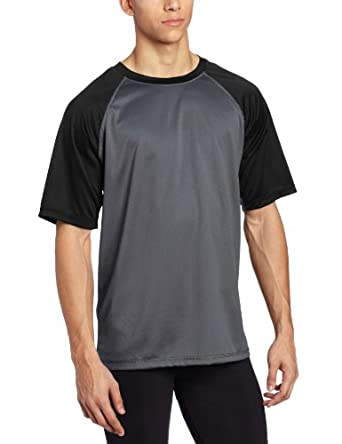 Kanu Surf Men's Contrast UPF 50+ Swim Tee, Charcoal, Small